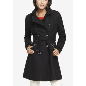 Express Wool Blend Fit and Flare Coat
